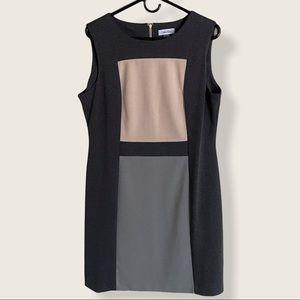 Calvin Klein Sleeveless Color Block Dress